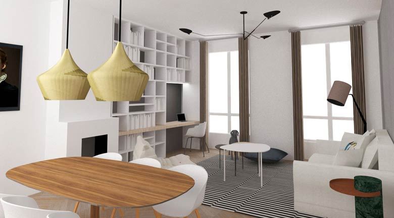 transformer un studio en appartement lumineux de 2 pi ces cr ateurs d 39 int rieur marseille. Black Bedroom Furniture Sets. Home Design Ideas
