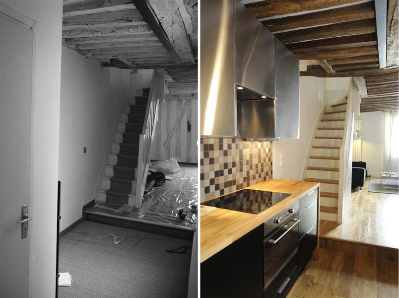 R novation d 39 un appartement 3 pi ces en duplex marseille for Amenagement interieur appartement