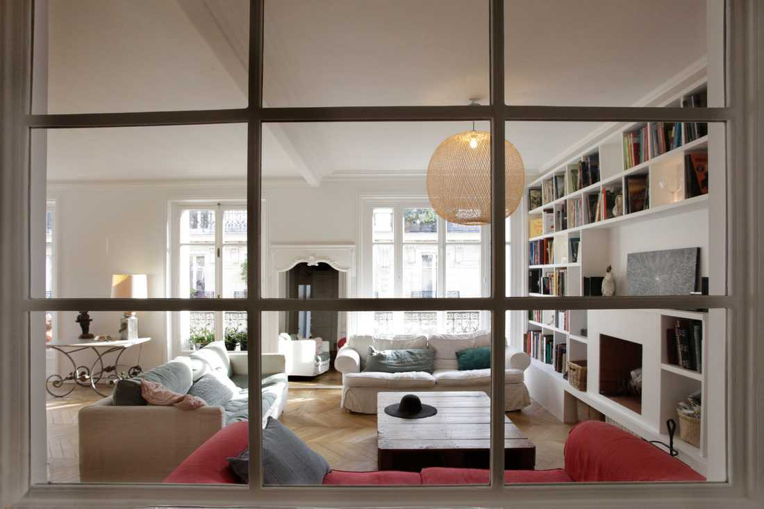 Rénovation d'un appartement haussmannien par architecte d'interieur à Marseille